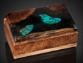 Lapidary Art:Boxes, Chrysocolla Box. Handcrafted in Wyoming. Stone Source:Arizona. ...