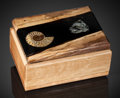Lapidary Art:Boxes, Adorable Ammonite Box . Handcrafted in Wyoming. FossilSource: Madagascar - Stone Source: Russia. ...