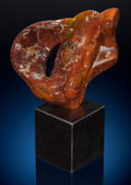 "Lapidary Art:Carvings, Inferno Agate Sculpture: ""Flames"". Sculptor: Perry BrentDavis. Stone Source: Chihuahua, Mexico. ..."