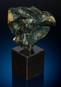 "Lapidary Art:Carvings, Morrisonite Jasper Sculpture: ""Twist"". Sculptor: Perry BrentDavis. Stone Source: Morrison Ranch, near OwyheeMountain..."