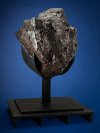 Colossal Nantan Meteorite on Custom Metal Armature Iron, IAB-MG Guangxi Province, China