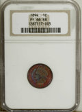 Proof Indian Cents: , 1894 1C PR66 Red and Brown NGC. Vivid reddish-orange and blue surfaces enhance the eye appeal of this well-preserved proof....