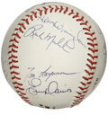 Autographs:Baseballs, 1990 Cincinnati Reds World Champion Team Signed Baseball. TheCincinnati Reds ushered in the 1990s with a World Series win ...