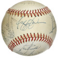 Autographs:Baseballs, 1980 New York Yankees Team Signed Baseball. Twenty-three signaturesappear here from the 1980 New York Yankee squad that pu...