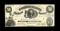 Confederate Notes:1861 Issues, T8 $50 1861. This piece is an attractive Choice Crisp Uncirculated issue with solid margins all around except at the low...
