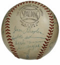 Autographs:Baseballs, 1952 New York Giants Team Signed Baseball. The year after theGiants captured the NL pennant in dramatic fashion courtesy o...