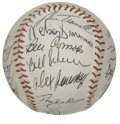 Autographs:Baseballs, 1985 Detroit Tigers Team Signed Baseball. Fresh off their dramaticWorld Series season in 1984, the Tigers looked to repeat...