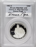 Modern Issues: , 1982-S S50C Washington Silver Half Dollar PR69 Deep Cameo PCGS.PCGS Population (6845/33). NGC...