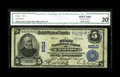 National Bank Notes:Pennsylvania, Crafton, PA - $5 1902 Plain Back Fr. 607 The First NB Ch. # 6010. This issuer left just $1,970 of its Large Size in publ...