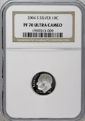 Proof Roosevelt Dimes: , 2004-S 10C Silver PR70 Deep Cameo NGC. PCGS Population (63/0).Numismedia Wsl. Price: $80. (#95309)...