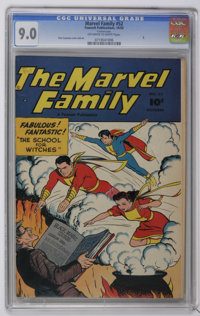 The Marvel Family #52 (Fawcett, 1950) CGC VF/NM 9.0 Off-white to white pages. Pete Costanza cover and art. Overstreet 20...