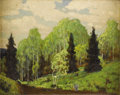 Texas:Early Texas Art - Regionalists, DWIGHT HOLMES (1900-1986). Untitled Landscape. Oil on canvasboard.8in. x 10in.. Signed lower left. A small but very well-...