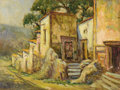 Paintings, ROLLA TAYLOR (1871-1970). Untitled Mexican Adobes. Oil on canvasboard. 12in. x 16in.. Signed lower left. Rolla Taylor ofte...