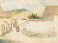 Texas:Early Texas Art - Impressionists, EMMA RICHARDSON CHERRY (1859-1954). Normandy, 1888.Watercolor. 16in. x 20in.. Signed, dated, and titled lower right....