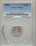 Seated Half Dimes: , 1842 H10C MS62 PCGS. PCGS Population (20/87). NGC Census: (22/99). Mintage: 815,000. Numismedia Wsl. Price for problem free...