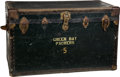 Football Collectibles:Others, Early 1960's No. 5 (Attributed to Paul Hornung) Personal Green Bay Packers Equipment Trunk. ...