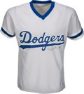 Baseball Collectibles:Uniforms, 1980's Dolph Camilli Signed Los Angeles Dodgers Jersey....