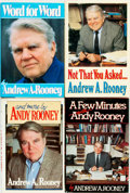 Books:Social Sciences, Andy Rooney. Group of Four Books. Various publishers and dates. .... (Total: 4 Items)