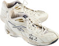 Basketball Collectibles:Others, 1997-98 Chauncey Billups Game Worn Rookie Shoes. ...