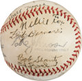 Baseball Collectibles:Balls, 1948 Lincoln Athletics Team Signed Baseball with Early Nellie FoxSignature. ...