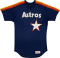 Baseball Collectibles:Uniforms, 1980's Houston Astros Game Worn Batting Practice Jersey Attributedto Bob Knepper. ...