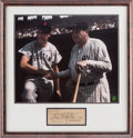 Baseball Collectibles:Photos, 1940's-90's Babe Ruth & Ted Williams Signed Check &Photograph Display....