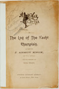 Books:Travels & Voyages, [Travel]. J. Armoy Knox. INSCRIBED. A [Devil] of a Trip, Or The Log of the Yacht Champlain. New York: National Liter...