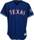 Baseball Collectibles:Uniforms, 2003 Alex Rodriguez Game Worn Texas Rangers Jersey with Team Letter. ...