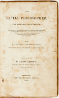 Books:Children's Books, Jacob Abbott. The Little Philosopher, For Schools andFamilies... Boston: Carter, Hendee and Co., 1833. ...