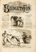 Books:Periodicals, [Illustrated Periodicals, Political Cartoons]. Frank Leslie'sBudget of Fun. No. 46. December, 1861. New York: F...