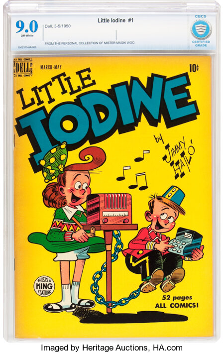 Little Iodine #1 (Dell, 1950) CBCS VF/NM 9.0 Off-white pages....
