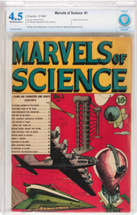 Marvels of Science #1 (Charlton, 1946) CBCS VG+ 4.5 Off-white to white pages