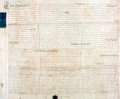 Books:World History, Land Indenture in the Reign of George The Third. Manuscript on vellum. Dated November 3, 1800. ...