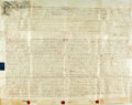 Books:World History, Land Indenture in the Reign of George The Second. Manuscript onvellum. Dated January 12, 1758. ...