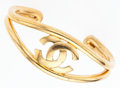 "Luxury Accessories:Accessories, Chanel Gold CC Bangle Bracelet. Very Good Condition. 1""Width x 5.5"" Length. ..."