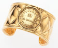 "Luxury Accessories:Accessories, Chanel Gold 31 Rue Cambon Bangle Bracelet. Good Condition. 6""Length. ..."