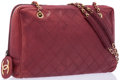 "Luxury Accessories:Accessories, Chanel Red Quilted Leather Shoulder Bag with Gold Hardware. GoodCondition. 11"" Width x 10"" Height x 4"" Depth, 16"" Sho..."