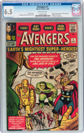 Silver Age (1956-1969):Superhero, The Avengers #1 (Marvel, 1963) CGC FN+ 6.5 Off-white pages....
