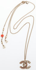 """Luxury Accessories:Accessories, Chanel Gold & Glass Pearl CC Necklace . ExcellentCondition. 24"""" Length. ..."""