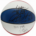 Basketball Collectibles:Balls, Robinson, Pippen, Malone and Stockton Multi Signed Leather All Star Basketball....