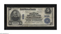 National Bank Notes:Missouri, Saint Joseph, MO - $5 1902 Plain Back Fr. 599 The Burnes NB Ch. #8021. This pleasing Plain Back has survived and offers...