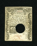 Colonial Notes:Connecticut, Connecticut June 1, 1780 10s Choice About New. A faint center foldis all that separates this well printed and well embossed...