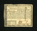 Colonial Notes:Rhode Island, Rhode Island July 2, 1780 $8 Fully Signed Choice New. A lovelyexample of this more available Rhode Island issue that is cri...