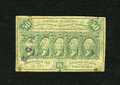 "Fractional Currency:First Issue, Fr. 1312 50c First Issue Very Good-Fine. ""R.C.H."" is stamped at left, once bold and once light. Some staining and pinholes a..."