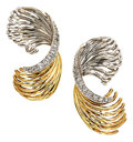 Estate Jewelry:Earrings, Diamond, Gold Earrings, Sterle. ...