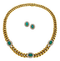 Diamond, Opal Doublet, Gold Jewelry Suite, Gucci