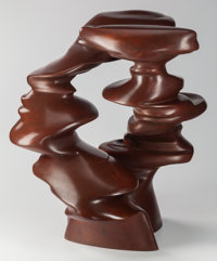 Tony Cragg (British, b. 1949) Outlook, 2008 Bronze with brown patina 22 x 21-1/2 x 18 inches (55