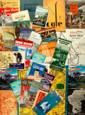 Miscellaneous:Ephemera, [Early Twentieth-Century Travel]. Group of Approximately FortyTravel Brochures and Maps. Various publishers and dates. ...