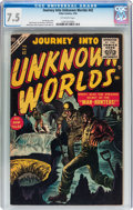 Golden Age (1938-1955):Science Fiction, Journey Into Unknown Worlds #42 (Atlas, 1956) CGC VF- 7.5 Off-whitepages....