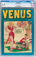 Golden Age (1938-1955):Romance, Venus #5 (Timely, 1949) CGC FN 6.0 Cream to off-white pages....